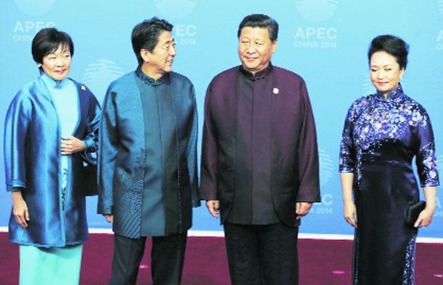 Xi Jinping, Shinzo Abe hold ice-breaking meeting