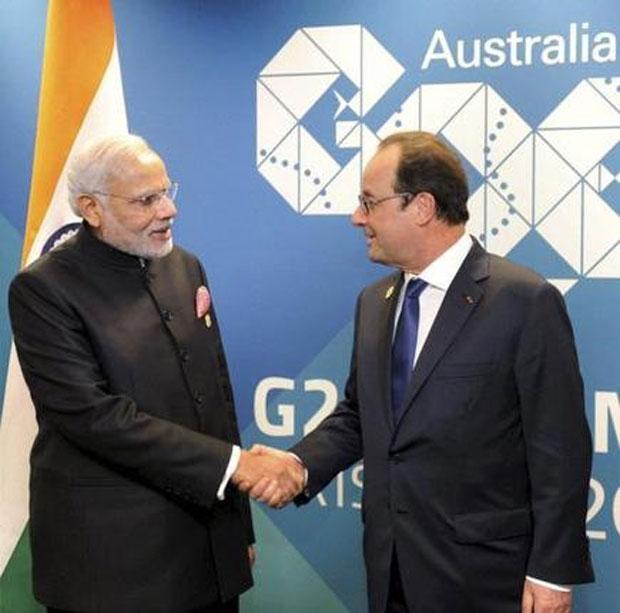 Narendra Modi Meet Francois Hollande