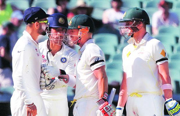 Virat Dhawan Warner Adelaide Test