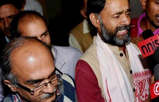 Aam Aadmi Party, Yogendra Yadav, Arvind Kejriwal, AAP, AAP expels yogendra Yadav, Yogendra Yadav expelled, Prashant Bhushan, Delhi news, india news, nation news, Political news