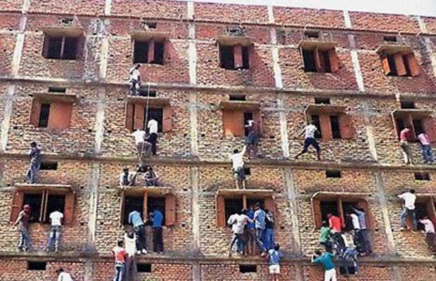 bihar cheating, bihar board, bihar exam, hazipur, hajipur, board matriculation exams, cheating, exam cheating, students caught cheating, p k shahi, students expelled, bihar news, nation news, india news