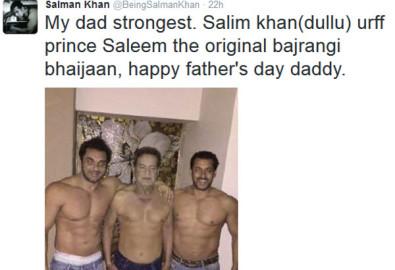 फादर्स डे, सोनाक्षी सिन्हा, बिपाशा बसु, सलमान खान, सोनम कपूर, विवेक ओबेरॉय, बॉलीवुड, बॉलीवुड न्यूज़, बॉलीवुड समाचार, मनोरंजन, sonakshi sinha, bipasha basu, salman khan, sonam kapoor, arbaaz khan, happy fathers day, fathers day, salim khan, shatrughan sinha, sonakshi shatrughan, bipasha basu father, sidhrth malhotra, salman khan salim khan, neha kakkar, salman brothers, salman salim sohail, sohail khan, entertainment news