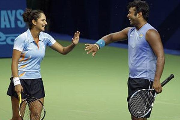 सानिया मिर्जा, लियंडर पेस, खेल समाचार, टेनिस, sania mirza, Leander Paes, us open, tennis