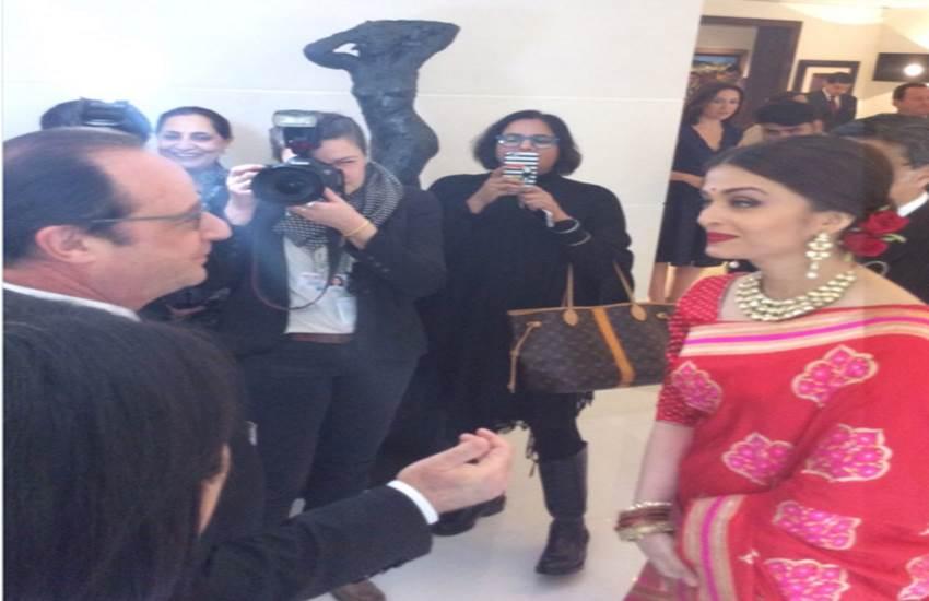 French President, Francois Hollande, Aishwarya Rai Bachchan, Shah Rukh Khan, Aditya Chopra, Republic Day, फ्रांसुआ ओलांद, एश्वर्या राय, आदित्य चोपड़ा, शाहरुख खान