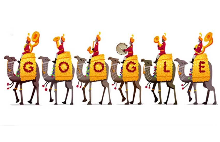 Google, 67th Republic day, Doodle, Googla Doodle, Republic Day