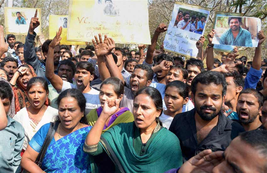 Rohith Vemula Suicide, News Channel Debate, Rohith Vemula, Hyderabad University