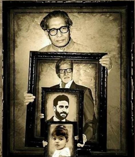abhishek bachchan, amitabh bachchan, harivansh rai bachchan, bollywood, abhishek bachchan share 4genreration pohotos, bachchan family pics