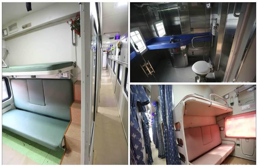 MAHAMANA EXPRESS, narendra modi news, modi in varanasi, mahamana Express coaches, pm modi flags off mahamana express train, Mahamana Express Speed, Mahamana Express fare, Delhi, Varanasi, Delhi to varanasi, Indian railways new train, indian railway, new indian train, new compartment train, IRCTC, indian railway, indian railway, new train coaches, irctc, railway booking, New railway Coaches, indian Railway pics, indian railway photos, improved interior, latest news in Hindi