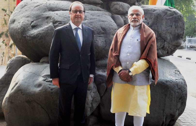 france, french president, france president, president of france, rock garden, chandigarh, rock garden nekchand son, narendra modi, Francois Hollande, Chandigarh's Rock Garden, latest news in hindi
