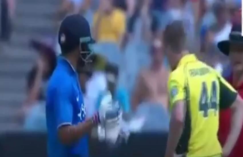 James Faulkner sledge, Virat Kohli, 24th century, 7000 runs, MCG, Australian bowler, 3rd ODI, India vs Australia, जेम्स फॉकनर, विराट कोहली, वनडे, ऑस्टेलिया भारत, टीम इंडिया ऑस्ट्रेलिया, मेलबर्न, तीसरा वनडे, latest cricket news, hindi news