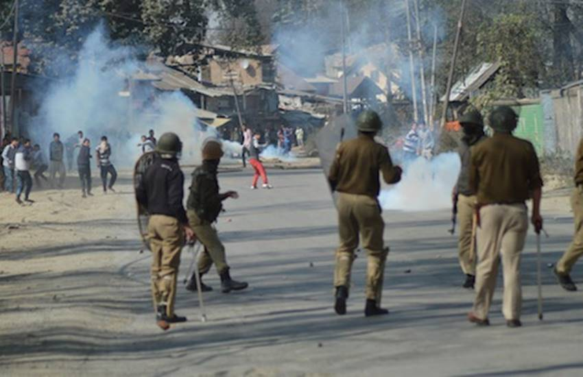 pampore gunbattle, anti-india slogans, pampore, pampore encounter, india, india news, kashmir encounter, edi institute, edi strike, news, kashmir news