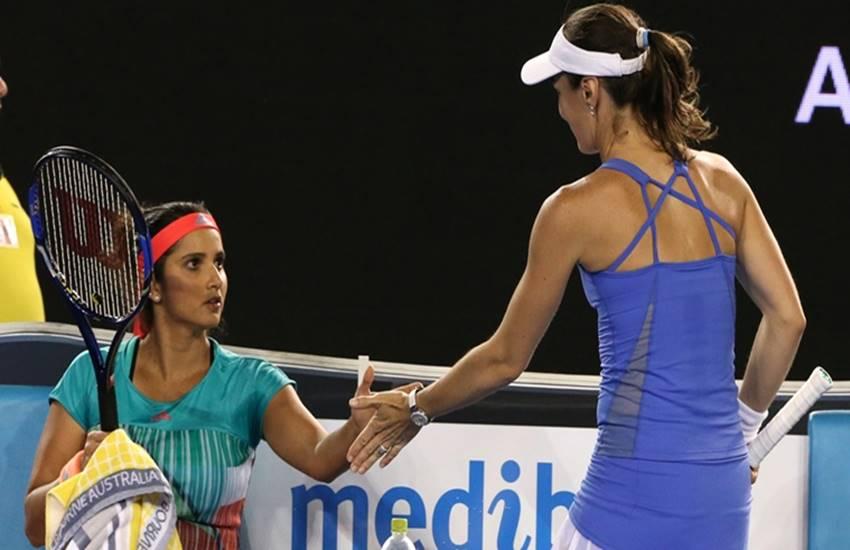 ania mirza, martina hingis, sania martina, sania hingis win, sania hingis duo, qatar open, qatar open updates, sports, tennis news, tennis