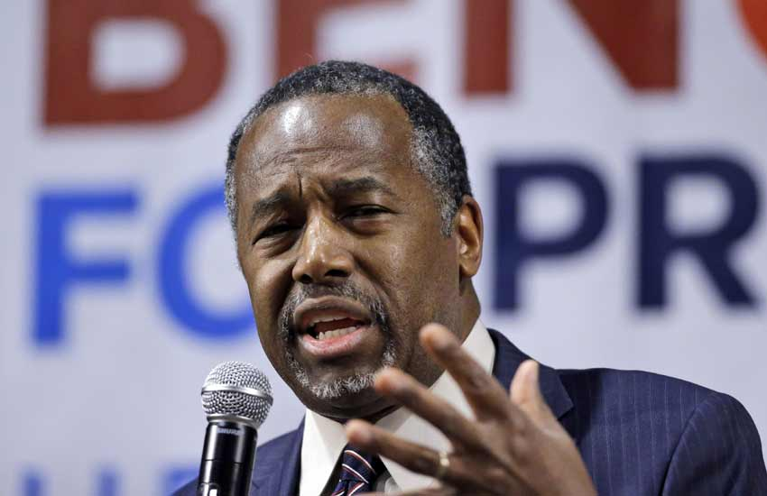 US President Elections, Ben Carson, Republican Candidate, White House, United States