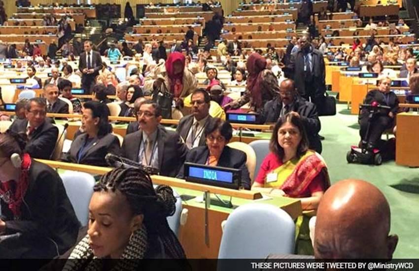"""""""gender equality,Union Minister Maneka Gandhi,National Policy for Women,Commission on the Status of Women (CSW),Commission on the Status of Women,United Nations,UN"""