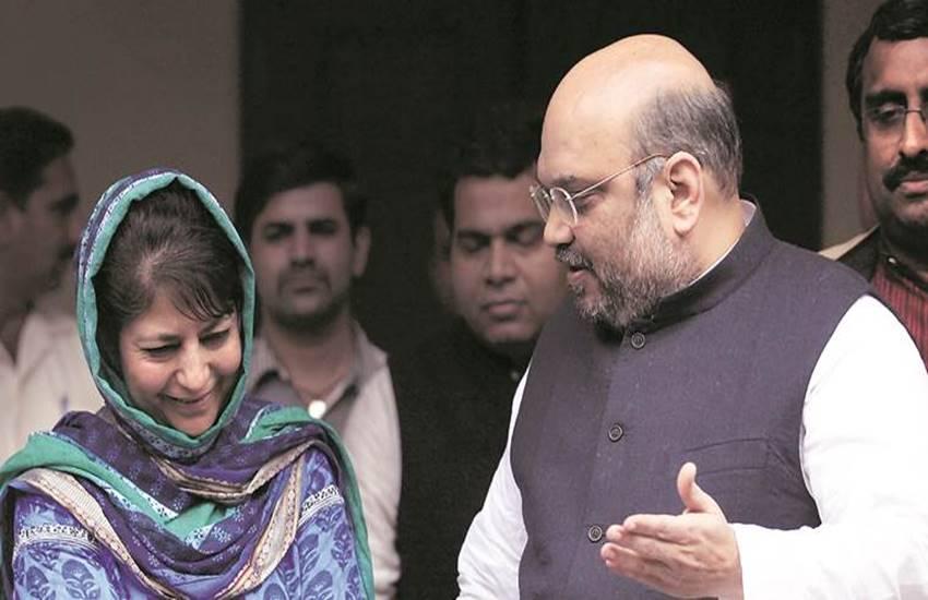 Mehbooba Mufti, Amit Shah, BJP, PDP, PDP BJP, Mehbooba Mufti BJP, BJP J&K, PDP J&K, J&K news, AAP Amit Shah, AAP Mufti, Kashmir news, india news