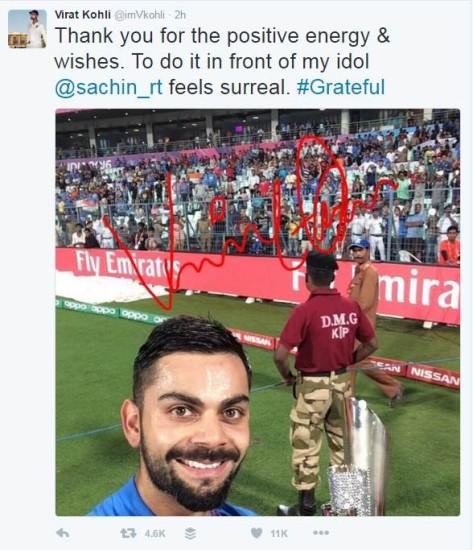 कोलकाता में शनिवार को खेले गए टी20 वर्ल्ड कप के लीग मैच में विराट कोहली की शानदारी पारी के दम पर भारत ने पाकिस्तान को करारी मात दे दी। कोहली ने 34 गेंदों पर अर्द्धशतक ठोककर खूब वाहवाही लूटी। फैंस  टि्वटर पर उनकी तारीफ में जमकर कसीदे पढ़ रहे हैं। ऐसे में बॉलीवुड एक्ट्रेस अनुष्का शर्मा भी खुद को रोक नहीं पाईं। बॉलीवुड लाइफ डॉट कॉम ने सूत्रों के हवाले से खबर दी है कि कोहली की शानदार पारी के बाद अनुष्का ने उन्हें मैसेज करके बधाई दी। विराट और अनुष्का काफी समय तक साथ रहे, लेकिन कुछ दिनों पहले वे अलग हो गए। खुद विराट ने एक ट्वीट करके संकेतों में अपनी बात कही थी। बहरहाल, वापस पाकिस्तान पर मिली शानदार जीत पर लौटते हैं और देखते हैं टि्वटर पर फैंस कैसे कर रहे विराट कोहली तारीफ?