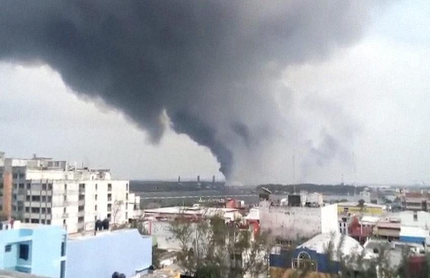Mexico oil plant, Mexico oil plant explosion, Mexico plant explosion, explosion Mexico plant