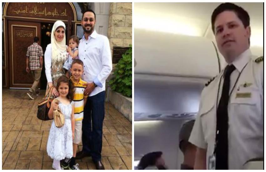 muslim family, Shame on you unitedAirlines, Eaman-Amy Saad Shebley, United Airlines plane, Washington DC, Chicago, discrimination