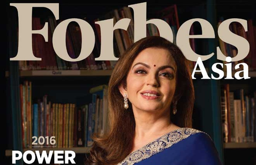 Forbes, Forbes Asia's Power Businesswomen 2016, Businesswomen List, Businesswomen List 2016, Nita Ambani, Chanda Kochhar, Power Businesswomen List, Power Businesswomen List 2016, Forbes Power Businesswomen, Forbes Power Businesswomen 2016, Forbes Asia, Forbes Asia top women list, Forbes Asia Businesswomen List, Chanda Kochhar ICICI