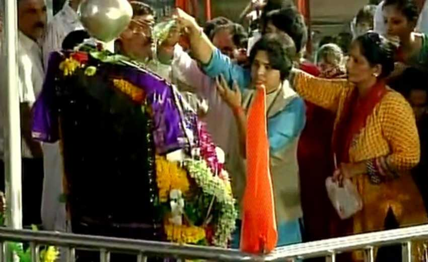 Shani Shingnapur, Shani Shingnapur temple, Trupti Desai, Trupti Desai Shani temple, Bhumata Ranragini Brigade, BRB, Gudi Padwa, Shani Shingapur temple trust, bombay high court, Bombay HC decision on Shani Shingapur temple, Shani Shingapur news, Maharashtra news