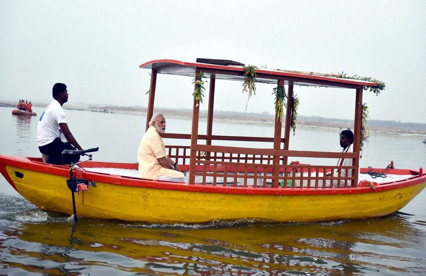 PM Narendra Modi, Narendra Modi in Varanasi, Narendra Modi E Boats, Modi in varanasi, E Boats narendra Modi, Varanasi