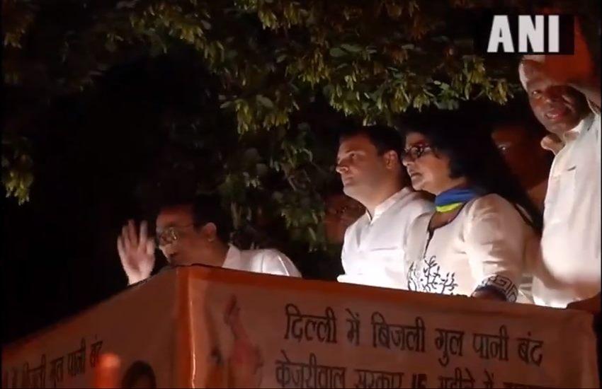 Rahul Gandhi,Mashal Juloos,Torch protest,Water Crisis,Electricity crisis in delhi,Arvind kejriwal,Delhi CM,MCD,Mahatma Gandhi,Rahul Gandhi Politics