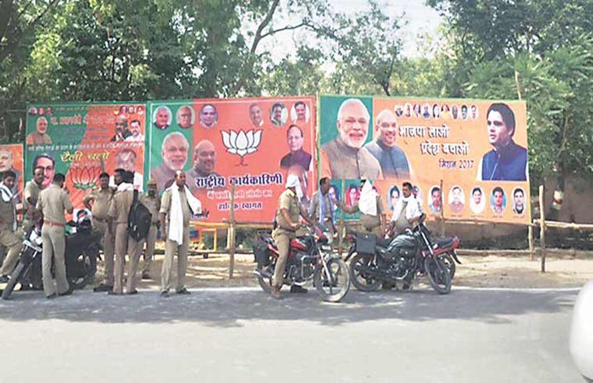 BJP, BJP national executive meeting, BJP MP in Allahabad, varun gandhi, poster war, BJP poster war, amit shah, sanjay joshi, narendra modi, UP elections 2017, uttar pradesh polls, UP BJP, UP BJP leader, smriti irani, yogi adityanath