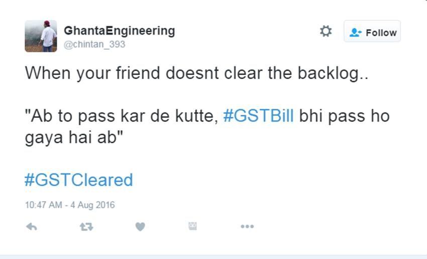 GST Bill, GST Bill Rajya Sabha, GST Bill Voting, Arun jaitley, Tax Reform, Rahul Gandhi, Arvind Kejriwal, India News, Twitter Jokes, Pappu Jokes, Jansatta