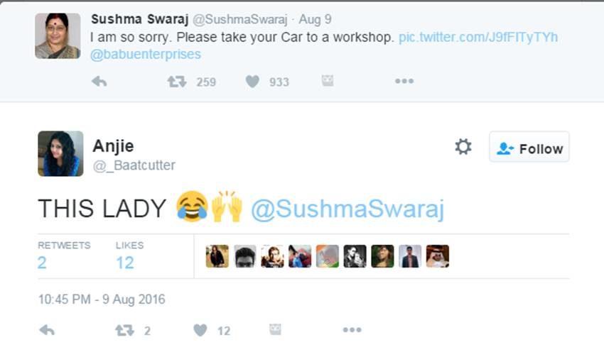 Sushma Swaraj, Sushma Swaraj Twitter, Sushma MEA, Foreign Minister, Sushma Swaraj Help, External Affairs, Twitter Hilarious, Social media, Modi Govt, India News, Jansatta