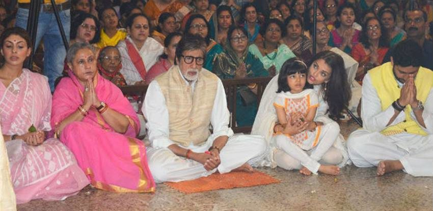 Aishwarya, Aishwarya Rai Bachchan, Aaradhya, durga ashtami, durga puja, durga puja 2016, Aishwarya Rai, Amitabh Bachchan, Amitabh Bachchan durga puja, Aishwarya Rai Bachchan durga ashtami, Aaradhya durga puja, Aaradhya pics, Aaradhya photos, Aaradhya images, Aishwarya Aaradhya, durga puja pics, Aishwarya Amitabh Bachchan, bollywood news, Entertainment news