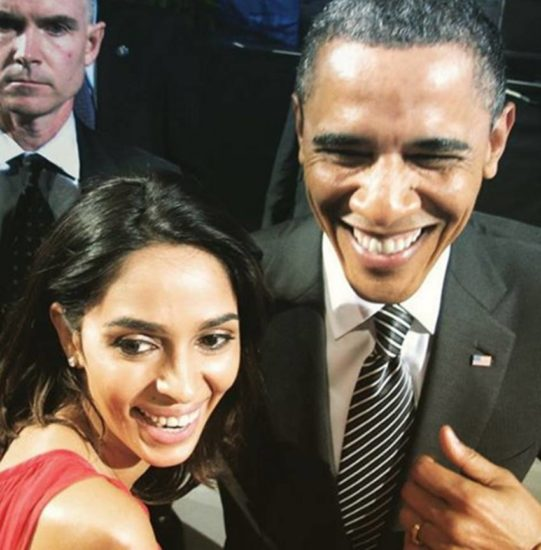 अमेरिका के राष्ट्रपति बराक ओबामा के साथ शेरावत। (Image Source: Instagram)