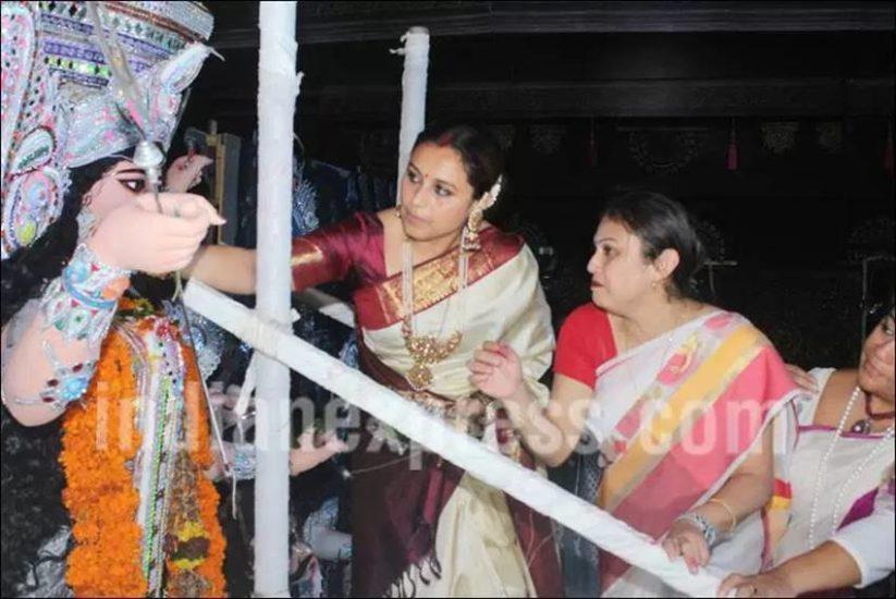 Rani Mukerji, Rani Mukerji sindoor khela, Rani Mukerji durga pooja, Sindoor Khela, Sindoor Khela pics, Vaibhavi Merchant, Rani Mukerji pics, Rani Mukerji recent pics, Rani Mukerji sindoor khela pics, Rani Mukerji marriage, Rani Mukerji baby, Rani Mukerji daughter, Rani Mukerji adira, Rani, Rani Mukerji photos, entertainment photos