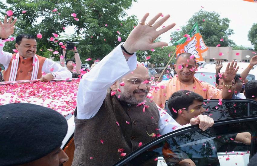 Amit shah, bjp, bjp president Amit shah, Amit shah uttar pradesh visit, uttar pradesh news, Lucknow news, Hindi news, Jansatta