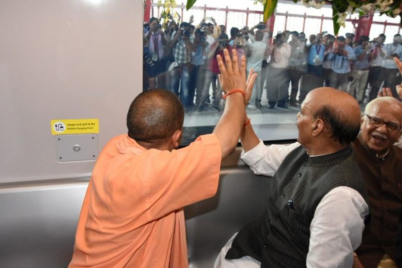lucknow, lucknow metro, lucknow metro map, lucknow metro route, lucknow metro news, lucknow metro news today, lucknow metro news in hindi, lucknow metro route map, Yogi Adityanath, Yogi Adityanath UP CM, UP CM Yogi Adityanath, Rajnath Singh, Rajnath Singh Latest News in Hindi, Lucknow Metro Latest News in Hindi, Lucknow Metro Today News, Latest News Updates in Hindi