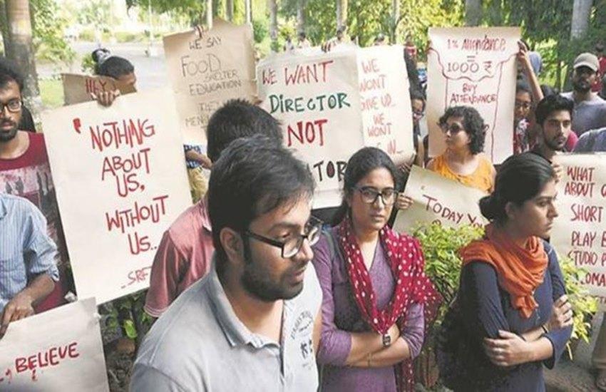 Satyajit Ray Film and Television Institute, SRFTI, Debamitra Mitra, Director Debamitra Mitra, SRFTI Director Debamitra Mitra, Students Surrounded, Students Surrounded Debamitra Mitra, State News