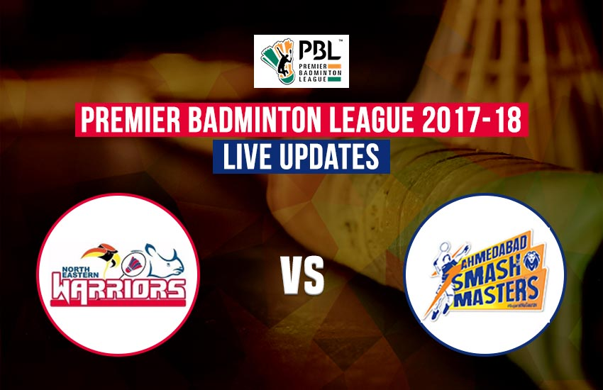 pbl, pbl live, pbl live score, pbl 2017, pbl badminton, pbl badminton live score, pbl 2017 live score, pbl badminton league live score, pbl live streaming, pbl live streaming news, pbl news, Premier Badminton League, Premier Badminton League live score, Badminton League live, Badminton League live score, North Eastern Warriors vs Ahmedabad Smash Masters, North Eastern Warriors vs Ahmedabad Smash Masters live, नॉर्थ ईस्टर्न वॉरियर्स और अहमदाबाद स्मैश मास्टर्स लाइव, नॉर्थ ईस्टर्न वॉरियर्स और अहमदाबाद स्मैश मास्टर्स