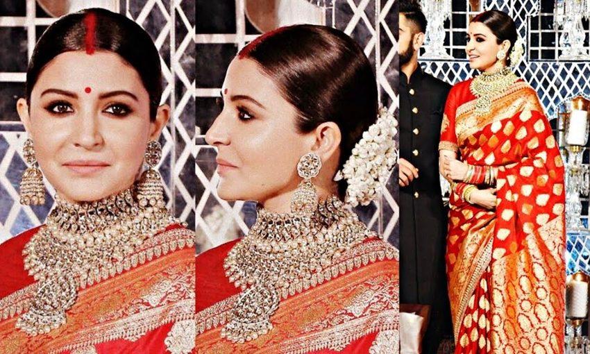 Anushka Sharma,Virat kohli,saree,Varanasi, anushka's saree, banaras saree, craftsmen, hyderabad news, india news, social news, latest news, virushka delhi reception sari, anushka sharma banasri sari
