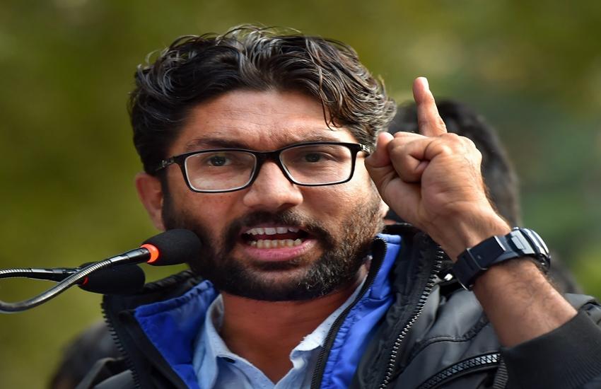 Arnab Goswami, Jignesh Mevani, Republic TV, Jignesh mocks Arnab, Yuva Hunkar Rally, Delhi hunkar rally, Delhi news, gujarat mla, hindi news, news in hindi, jansatta
