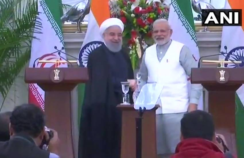 Narendra Modi, Hassan Rouhani, Hassan Rouhani in india, Hassan Rouhani indian visit, Nine Agreements, Nine Agreements between India and Iran, India and Iran agreements, Indian PM Narendra Modi, Iranian President Hassan Rouhani, National news
