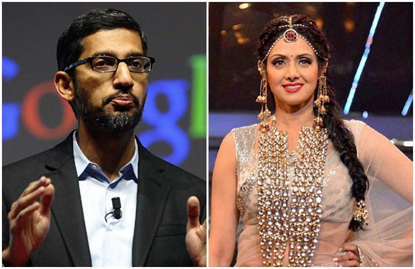 sridevi, google, CEO sundar pichai, tribute sridevi, bollywood news, sridevi google, CEO sundar pichai, tribute sridevi, entertainment news, jansatta