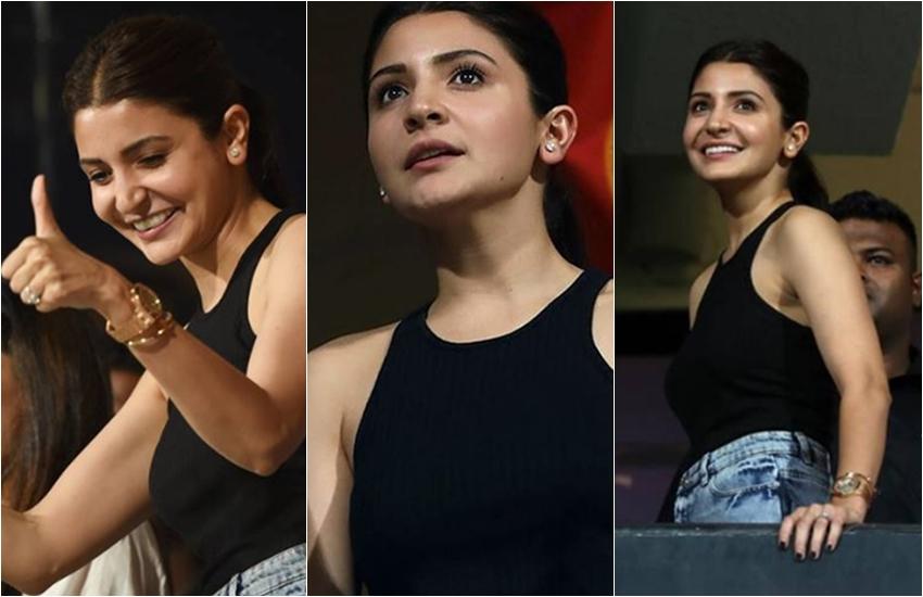 PHOTOS: IPL देखने पहुंचीं अनुष्का शर्मा ने विराट कोहली को दिया फ्लाइंग किस, प्रीति जिंटा से भी बतियाईं