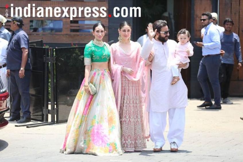 करीना, करिश्मा, सैफ अली खान और तैमूर अली भी सोनम की शादी में शामिल हुए।
