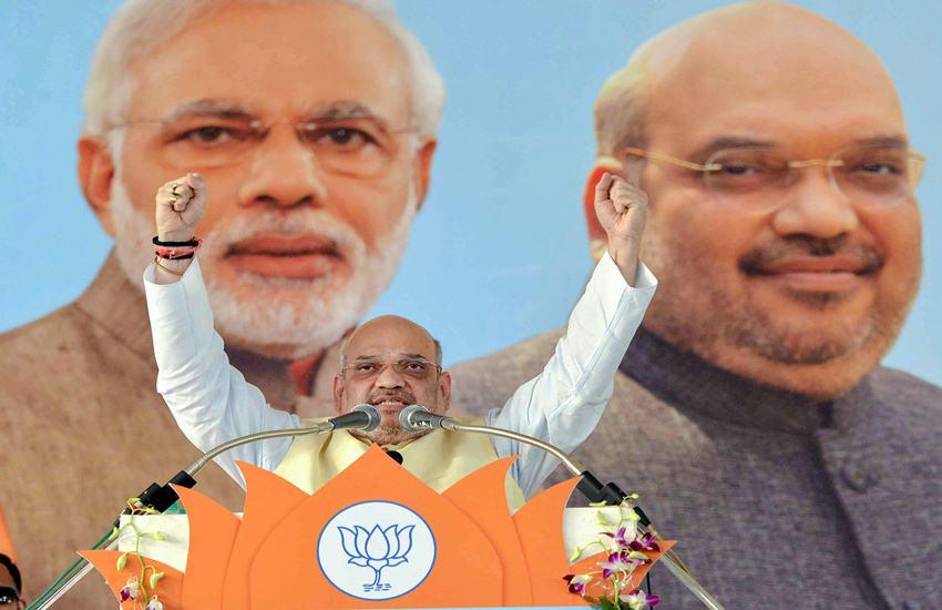 Amit shah, bjp, bjp president, Karnataka, karnataka assembly elections 2018, 40 lac, congress, cm Siddaramaiah, B. S. Yeddyurappa, tv debate, Hindi news, News in Hindi, Jansatta