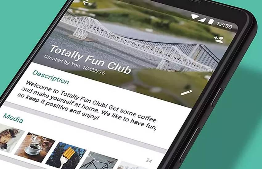 whatsapp, facebook, messaging, group description, new controls, WhatsApp group admins, mentions feature, participant search, Group creators, restrict participants