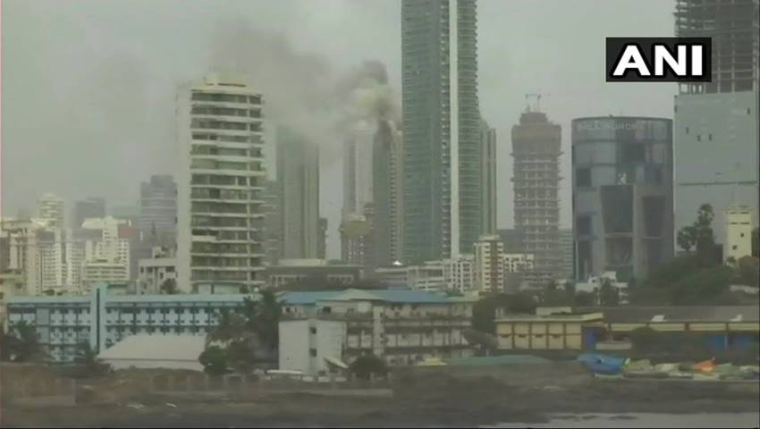 Beaumonde Towers Apartments Mumbai Fire LIVE, Worli High ...