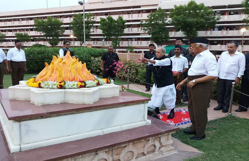 Pranab Mukherjee, Pranab Mukherjee at nagpur, rss, cpm, cpm, General Secretary Sitaram Yechury, nagpur, hindi news, news in Hindi, Jansatta