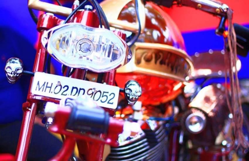 modified royal enfield, custom royal enfield, modified thunderbird 350, royal enfield thunderbird custom, glass fuel tank, royal enfield with glass fuel tank, bullet 350, bullet 350 cc