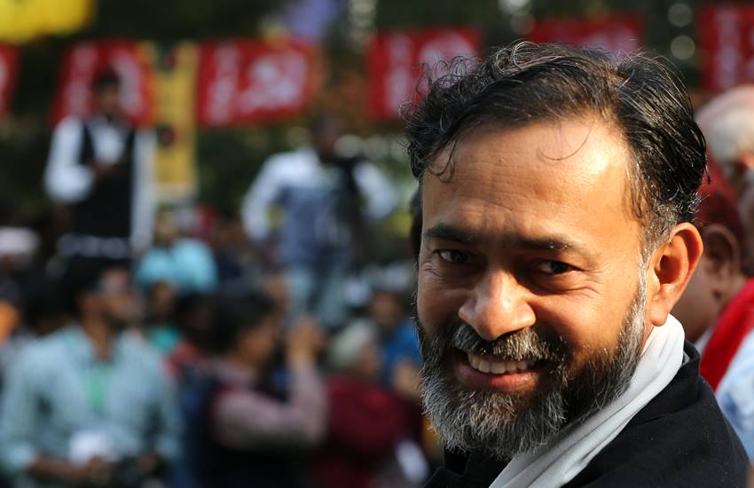 yogendra yadav, yogendra yadav Krishna painting, yogendra yadav trolled, Swaraj India, Swaraj, eid, eid mubarak, Hindi news, News in Hindi, Jansatta