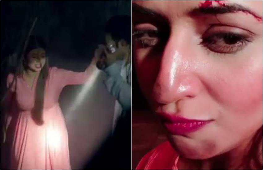 divyanka tripathi, tv actress divyanka tripathi, divyanka tripathi is in dark cave, divyanka share picture with blood on forehead, see picture of ye hai mohabbatein actress, divyanka ake ishi ma, bollywood news, television news, entertainment news, bollywood news, television news, entertainment news, bollywood news, television news, bollywood news, television news, entertainment news, bollywood news, television news, entertainment news, bollywood news, television news