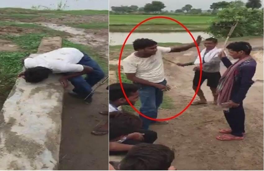 Man thrashed, Man Lick Spit, Thrash, Lick, Spit, Dispute, Group of Men, Nalanda, Bihar, SP, Arrest, State News, Crime News, Hindi News